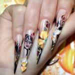 роспись ногтей акриловыми красками фото