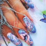 маникюр в домашних условиях рисунки на ногтях