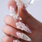 наращивание ногтей свадебный маникюр