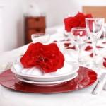 праздничное украшение стола на день святого валентина