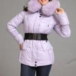 сиреневая куртка с поясом