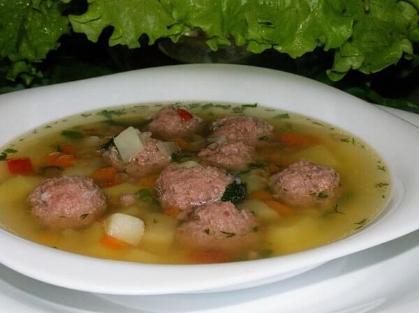 рецепт супа с мясными фрикадельками фото