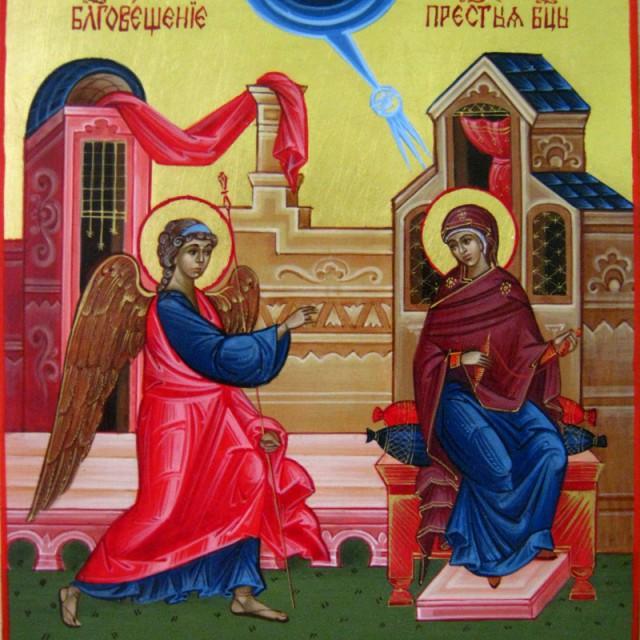 Христианские стихи смс к Благовещению