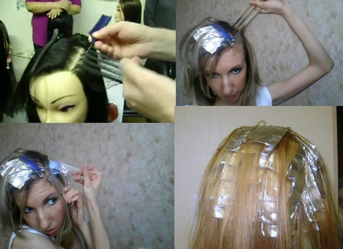Как делать правильно мелирование волос видео