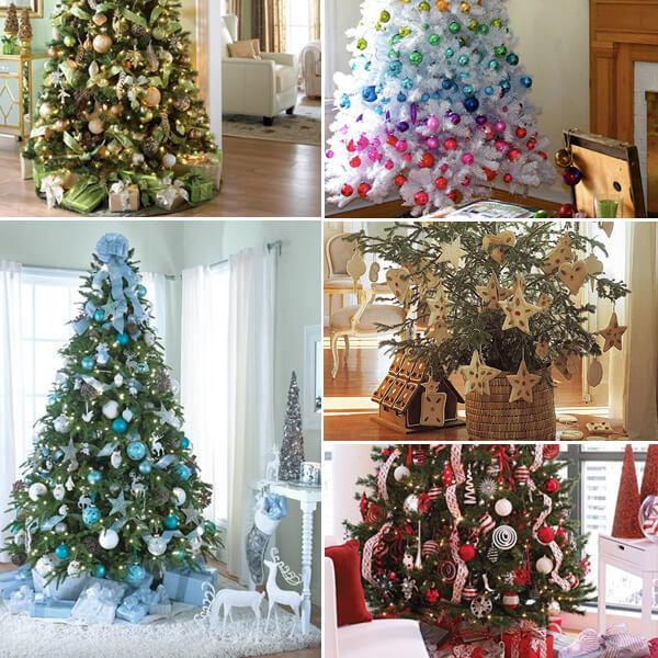 идеи офорления новогодней елки 2016