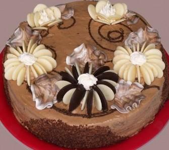 торт на день рождения бисквитный с капучино