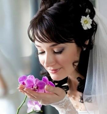 свадебные волосы на длинные волосы с