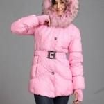 розовая женская куртка зима