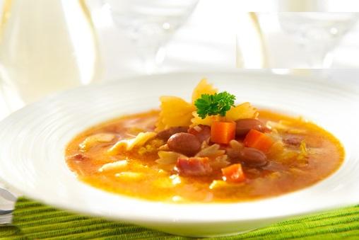 итальянский овощной суп с фасолью