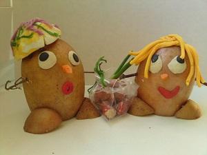 осенние поделки фото пример из картошки